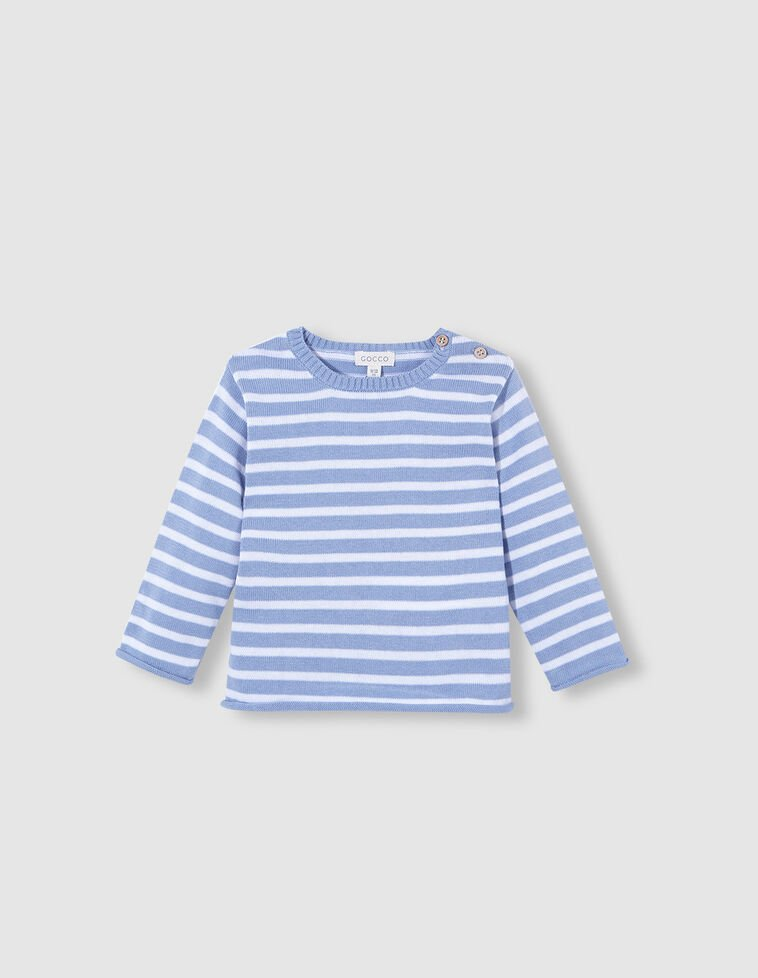 Jersey rayas blanco y azul