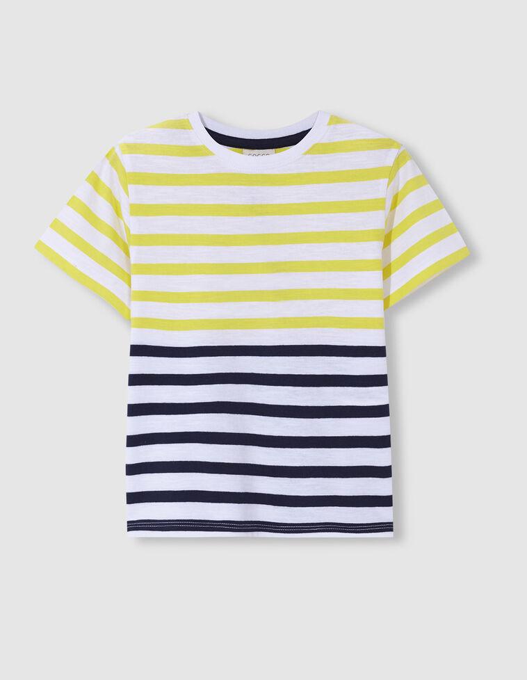 Camiseta rayas tricolor