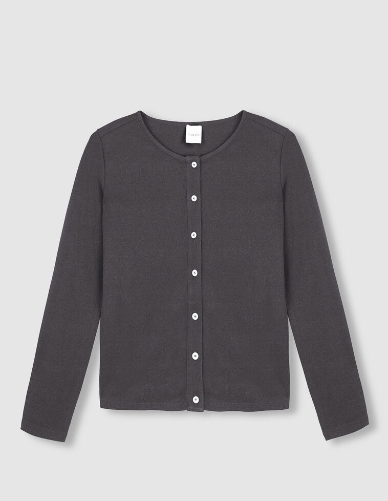 Camiseta rib botones fresa