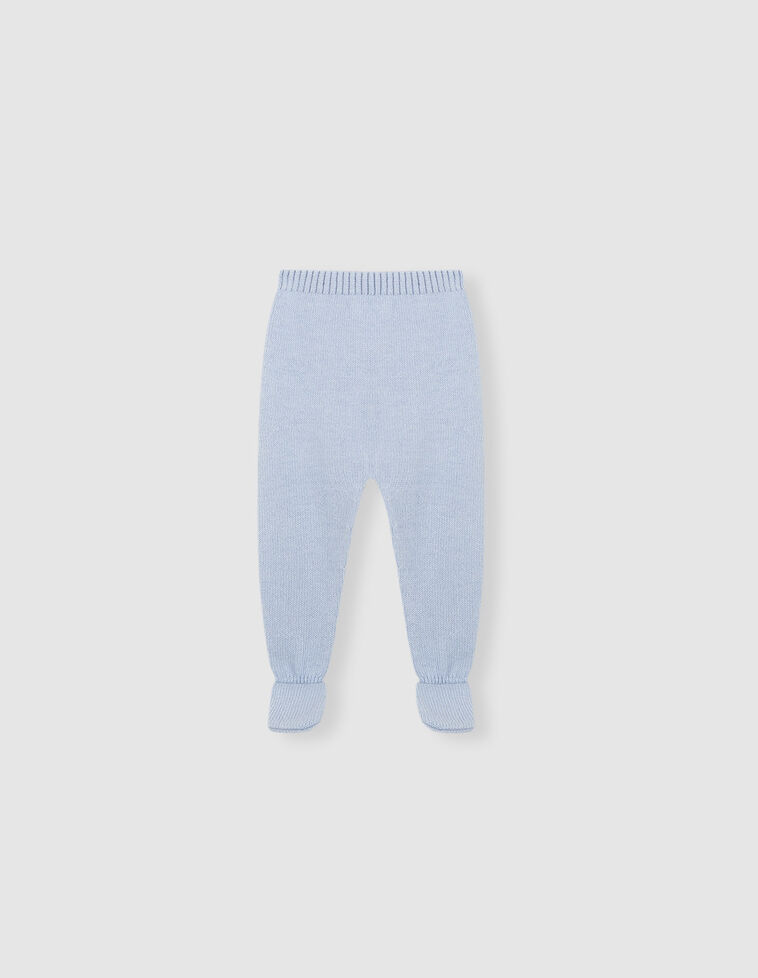 Polaina basica azul bebé