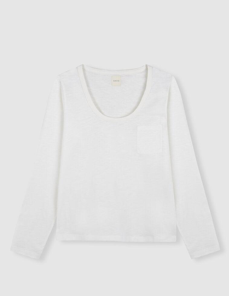 Camiseta con bolsillo blanco
