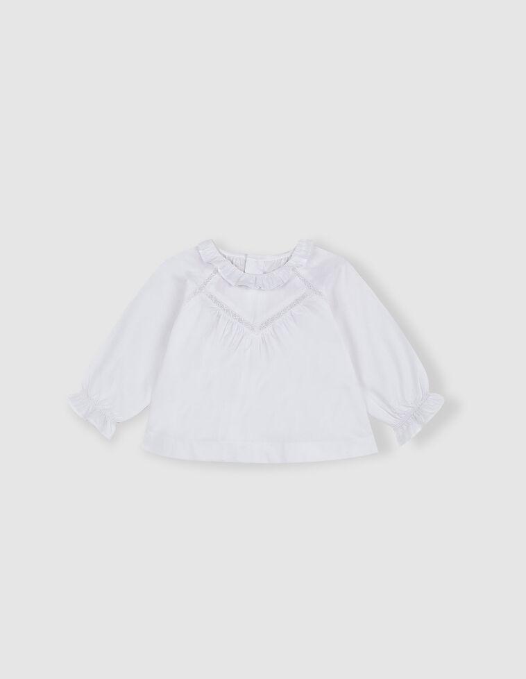 Blusa tiras bordadas