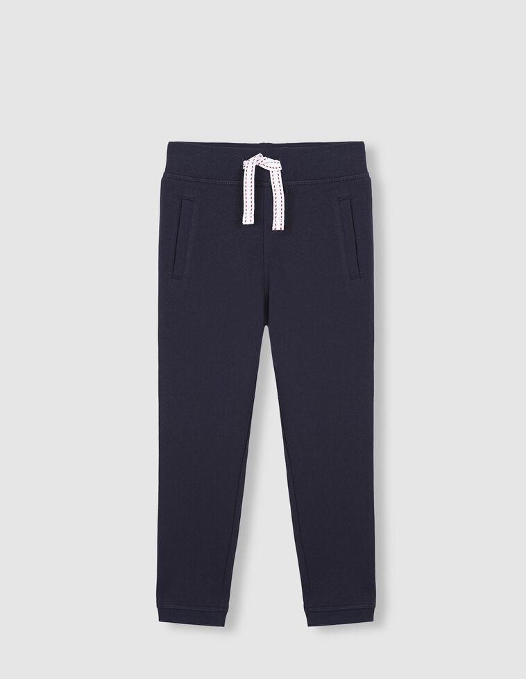 Pantalon felpa azul marino