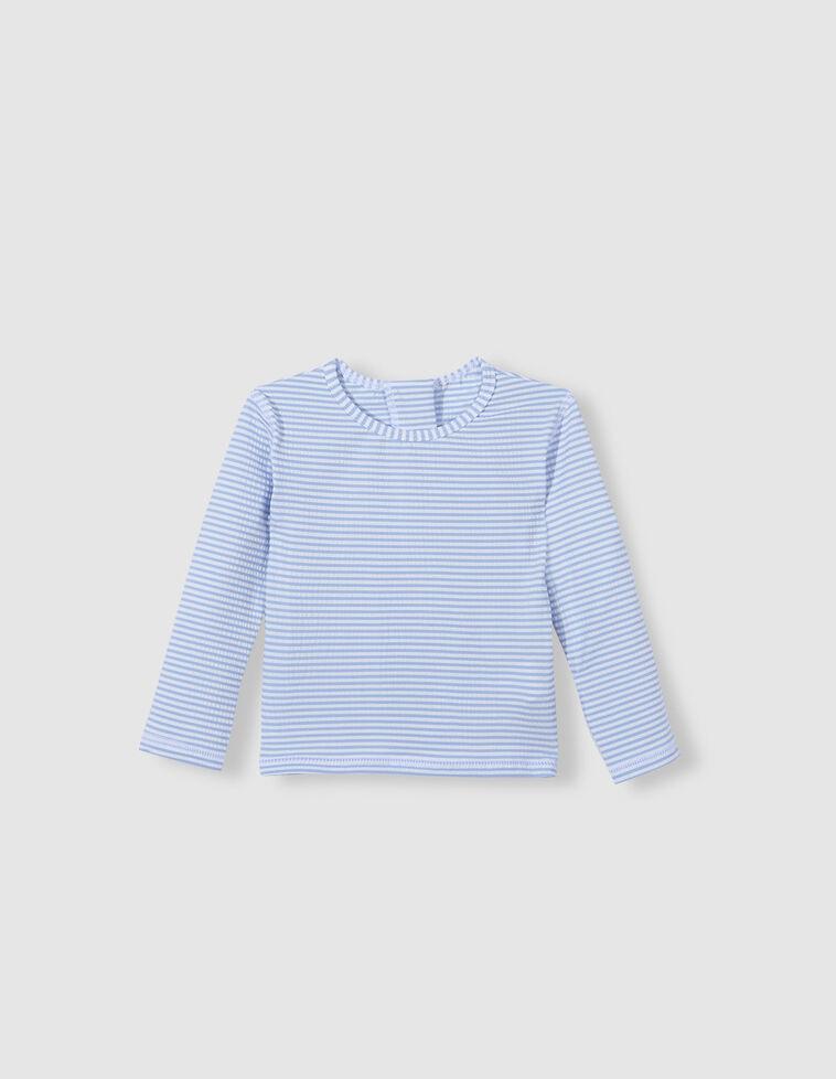 Camiseta baño rayas azul