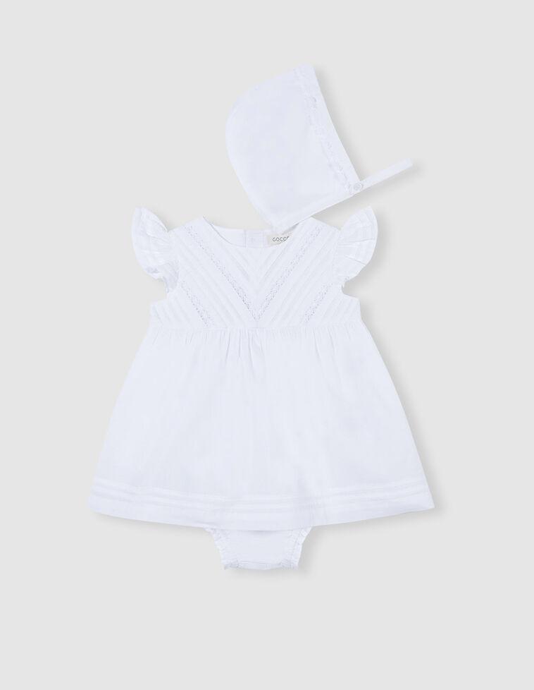 Conjunto vestido jaretas blanco