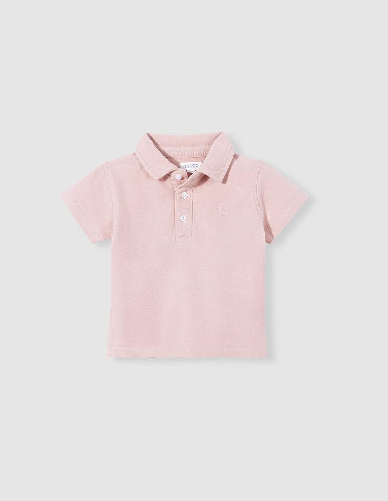 Polo piqué básico rosa viejo