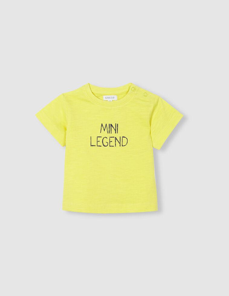 Camiseta mini legend amarilla