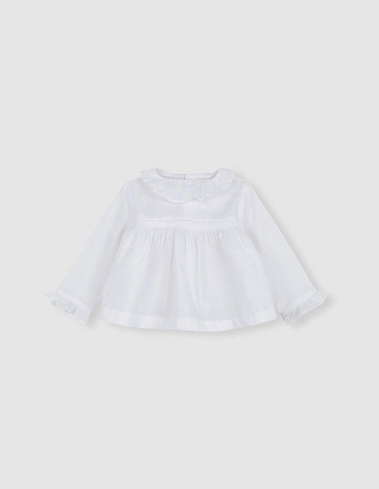 Blusa blanca jaretas