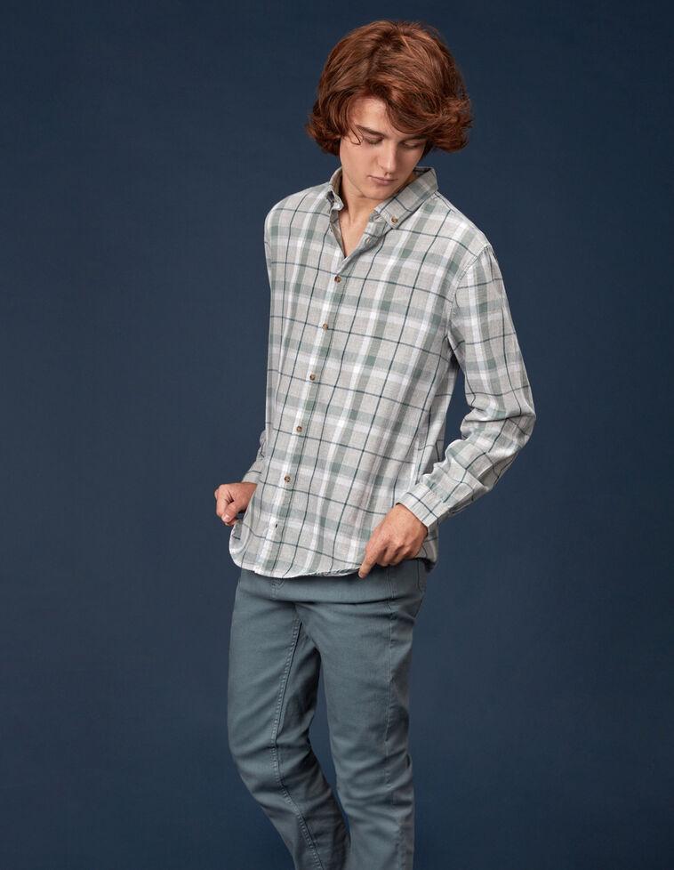 Camisa cuadro gris
