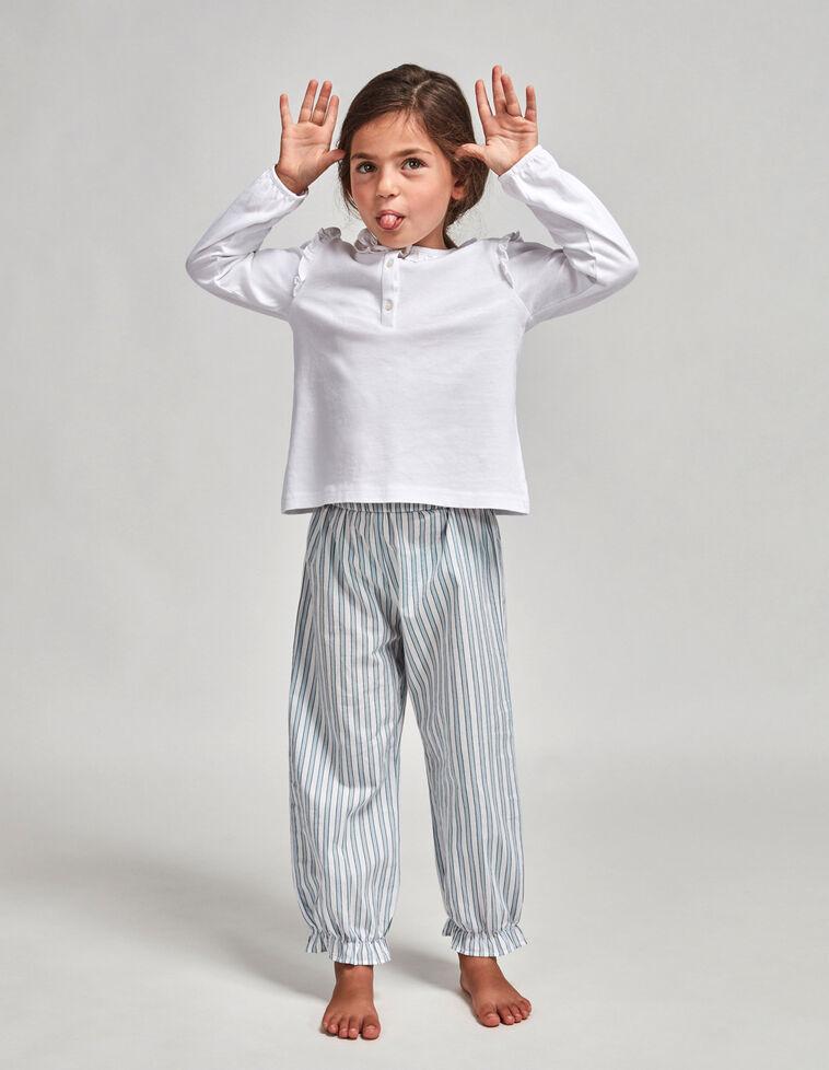 Pijama pantalón popelín rayas