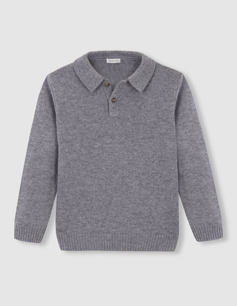 Jersey tipo polo gris