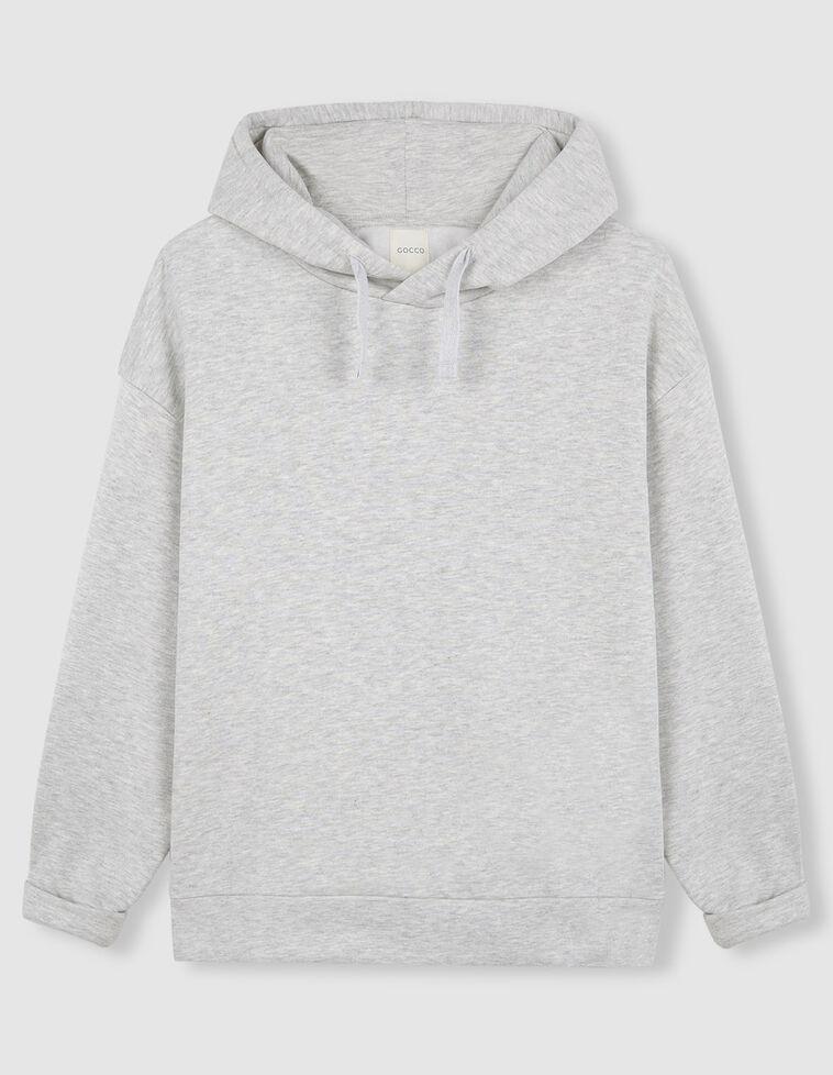 Sudadera oversize capucha gris