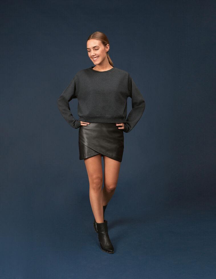 Minifalda cruzada efecto piel