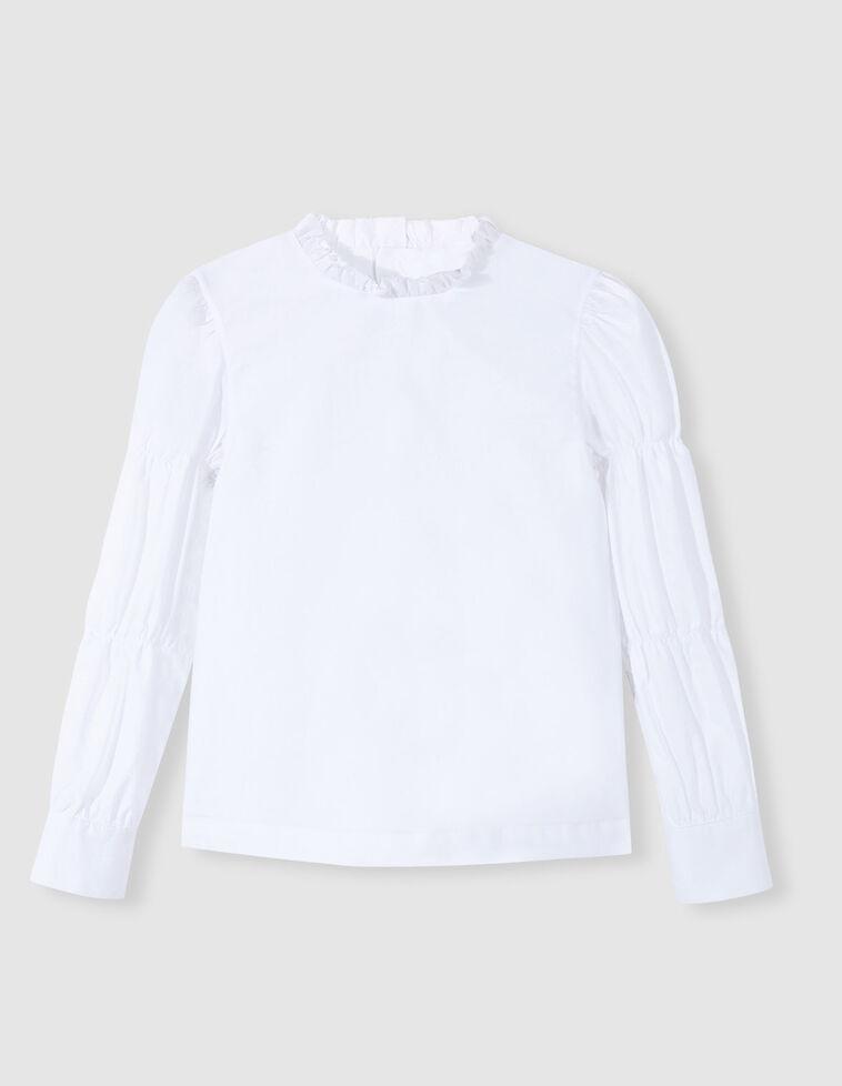Camisa mangas abullonadas blanca