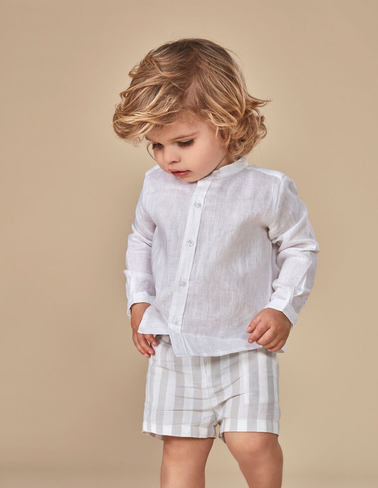 Camisa dobby blanca