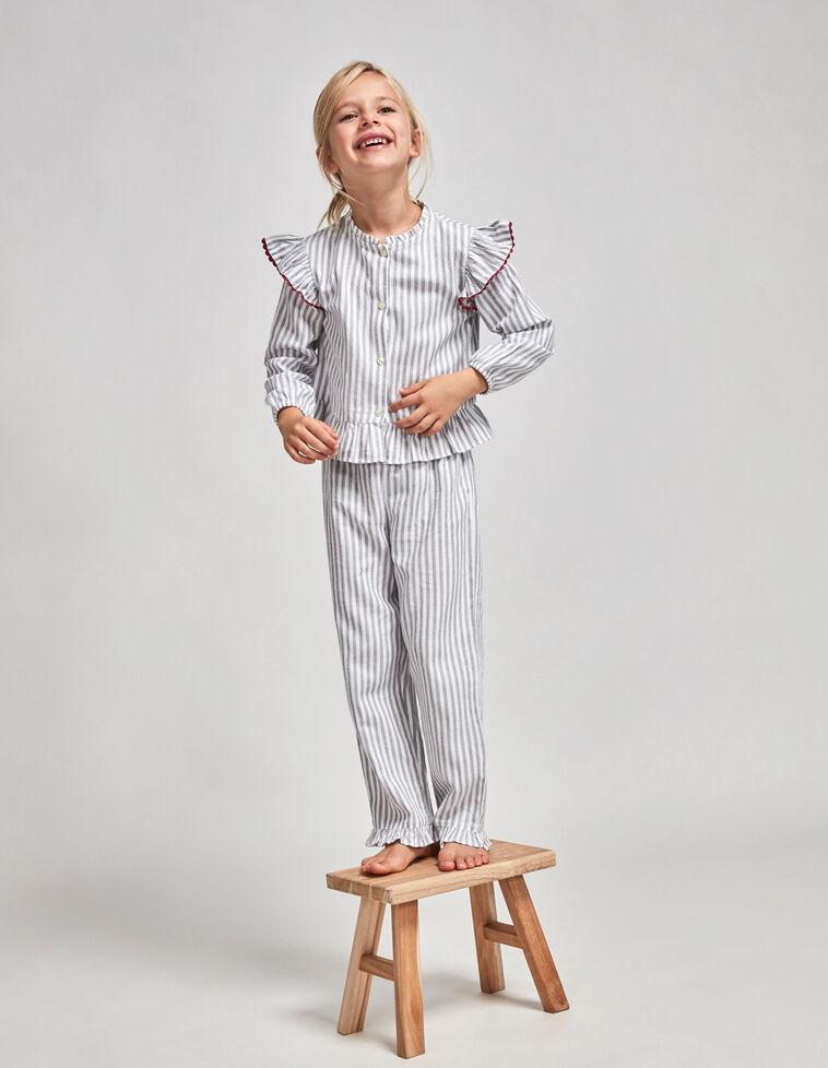 Pijama rayas picotina fresa