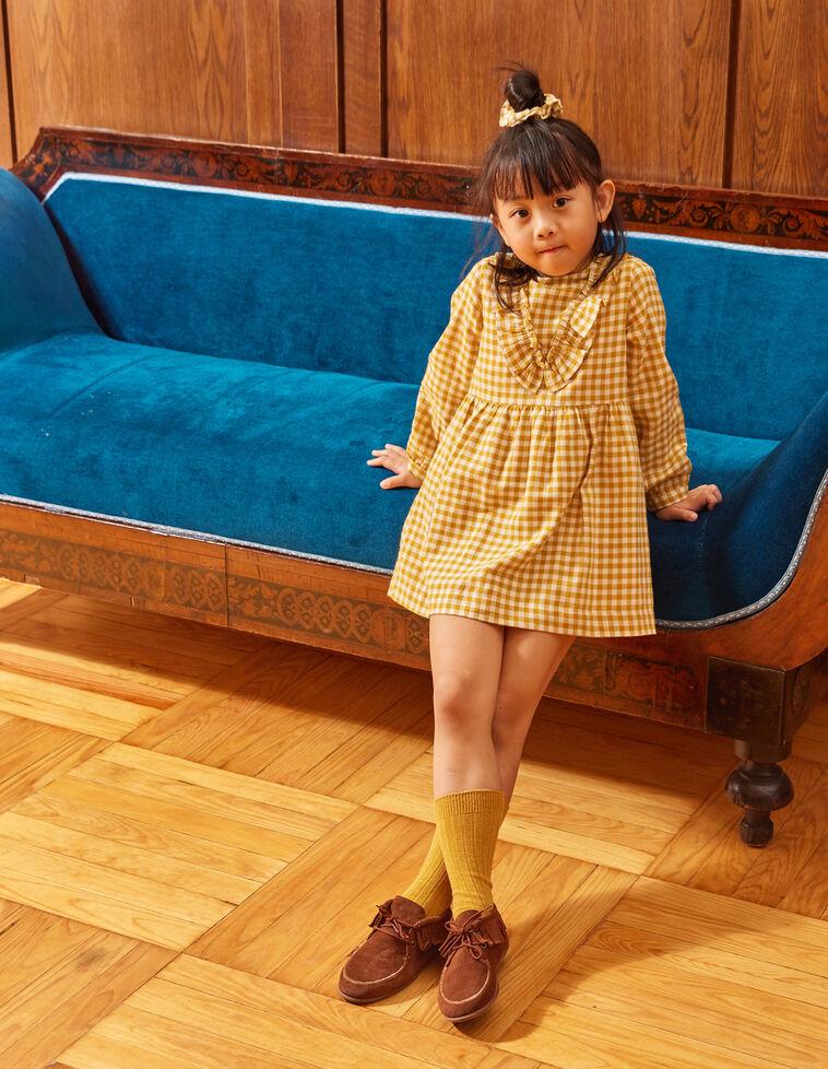 Vestido cuadro vichy lima