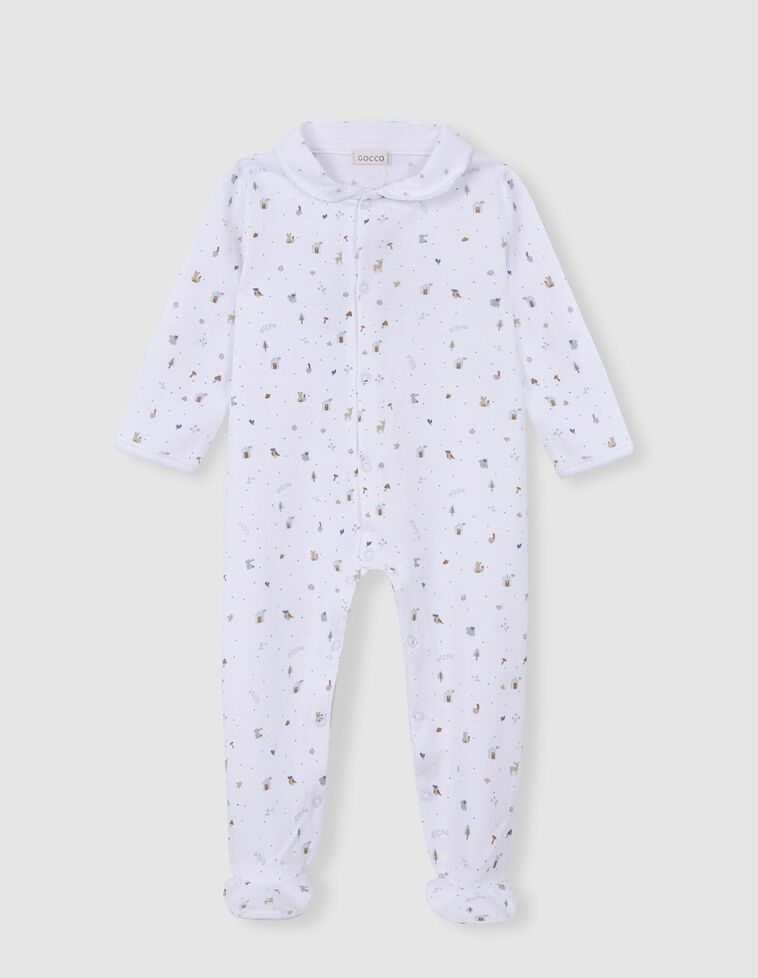 Pijama estampado bosque