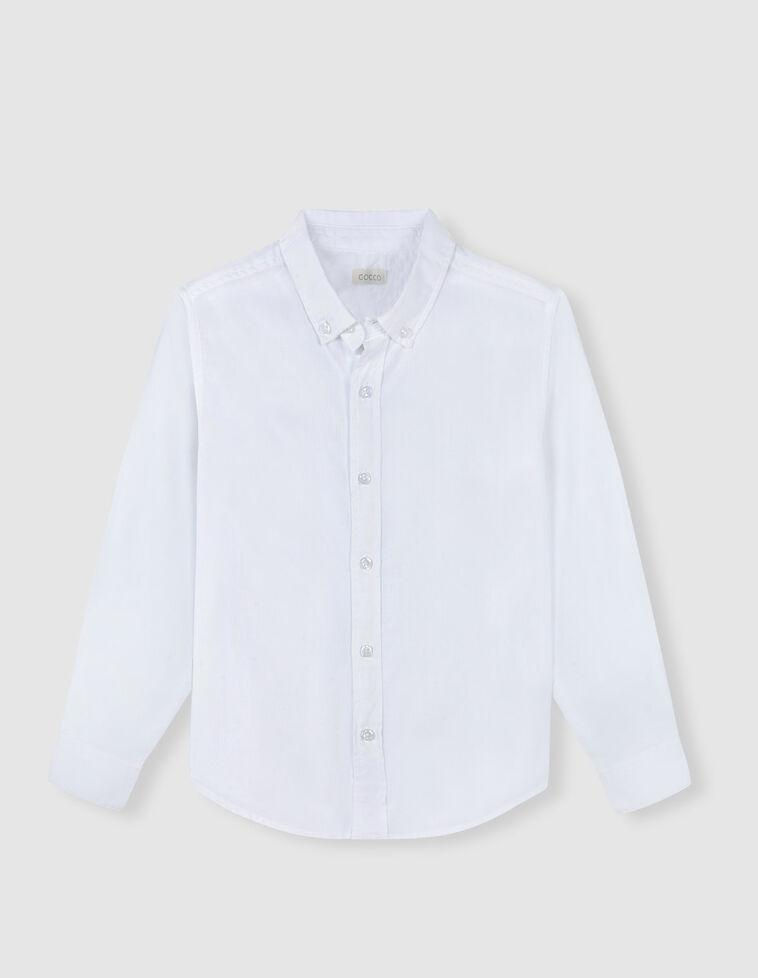 Camisa blanca espiga