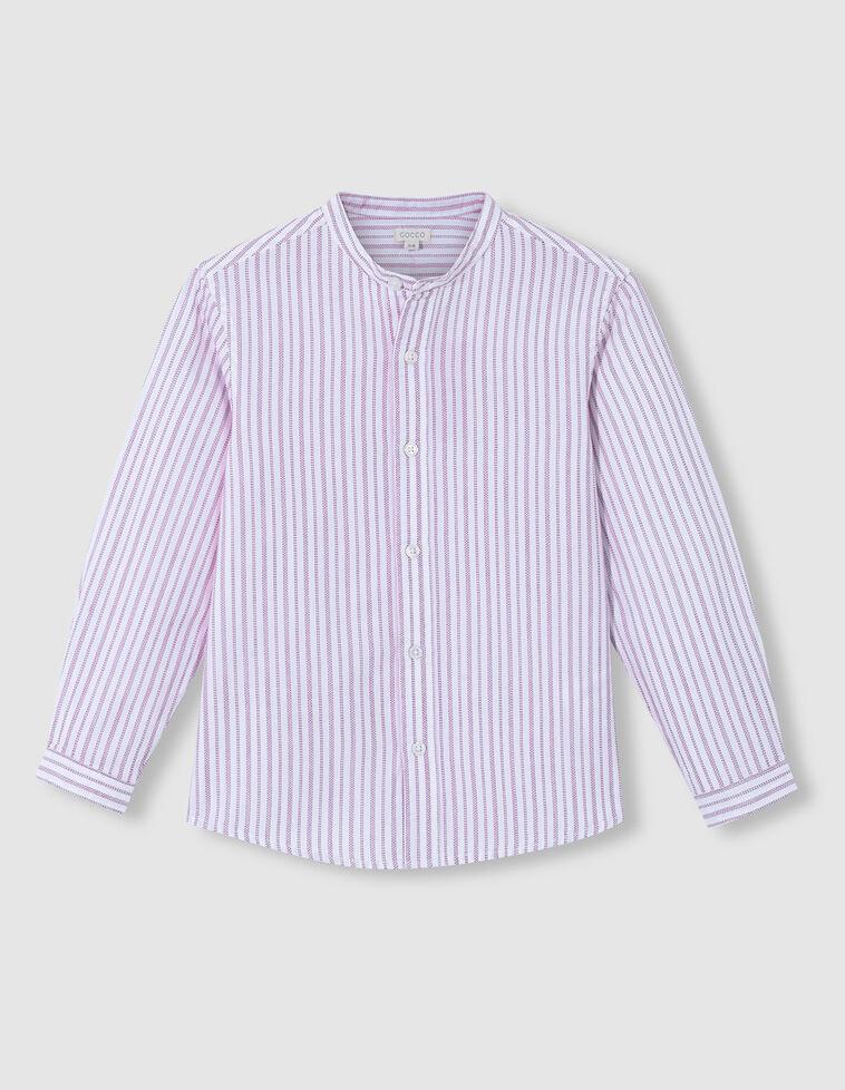 Camisa cuello mao dobby rayas