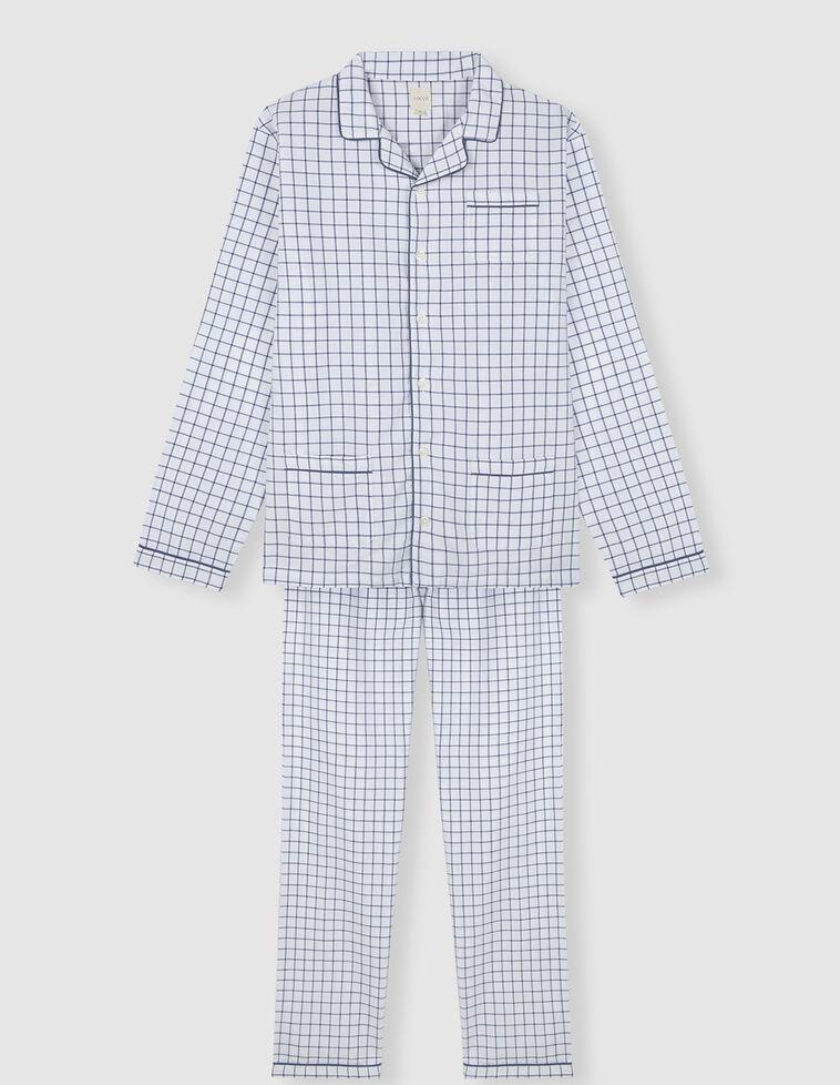 Pijama cuadros con vivo