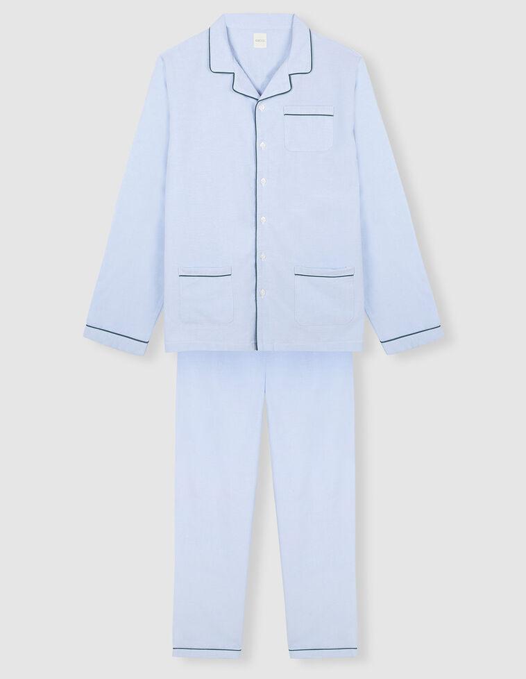 Pijama vivo contraste oxford azul