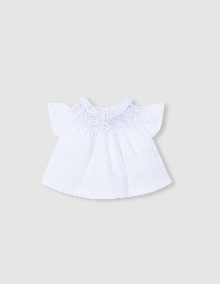 Camisa cuello volante blanca