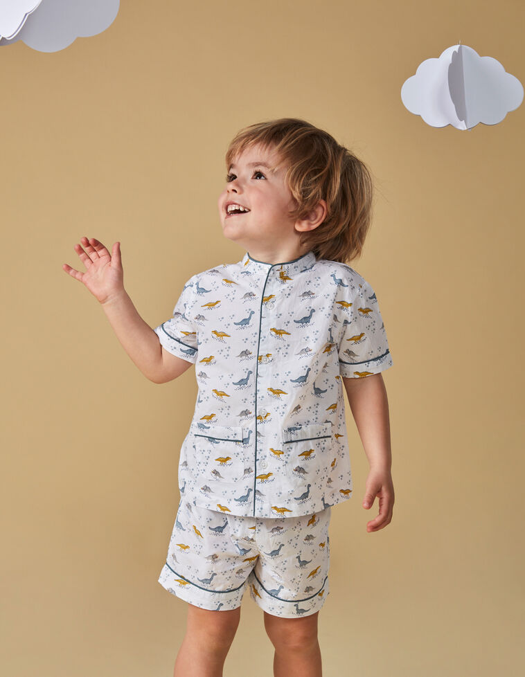 Pijama corto estampado dinosaurios