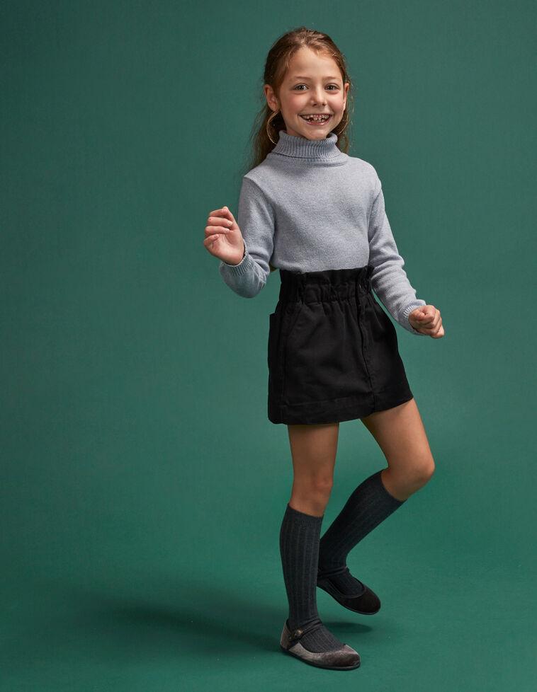 Minifalda paperbag goma