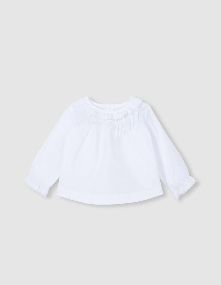 Camisa con jaretas blanca